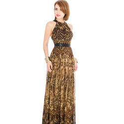 Ladies Lycra Printed Gown