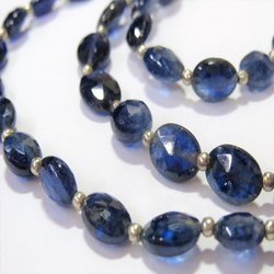 Natural Blue Sapphire Faceted Oval Gemstone Beads