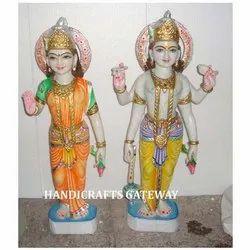 Pure Marble Laxmi Narayan Statue