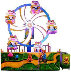 Teddy Ferris Wheel Kids Amusement Ride Game
