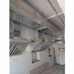 Galvanized Iron Modular Restaurant Chimney, 220w
