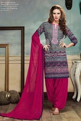 Ladies Cotton Embroidered Suit