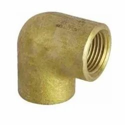 Male 90 degree Brass Elbow, Gold, Size: 1 inch