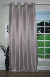 Lushome Torronto Silk Striped Long Door Curtain