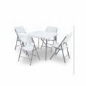 Wonderplast White Garden Folding Table Set