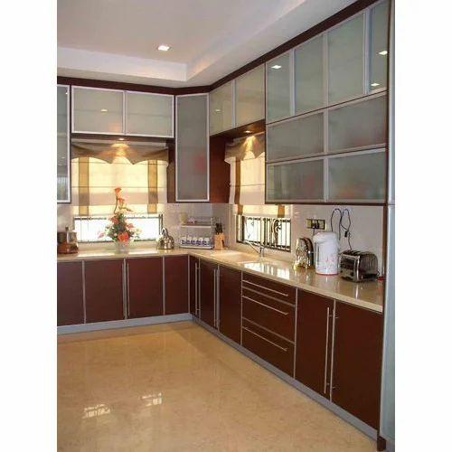 Wooden Designer Acrylic Kitchen Cabinet Rs 1200 Square Feet Rajdhani Steel Id 19664588288
