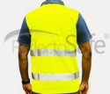 Reflective High Visibility T Shirts With 3m Scotchlite Tape (Polo - Citron)