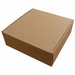 矩形棕色波纹包装盒