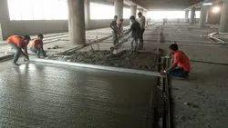 Grey Interior IPS Flooring Work, Thickness: 70 mm