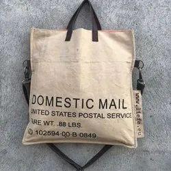 Printed Cotton Canvas Foldover Messenger Bag