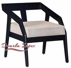 Dwarka Impex Brown Hotel Modern Wooden Chair