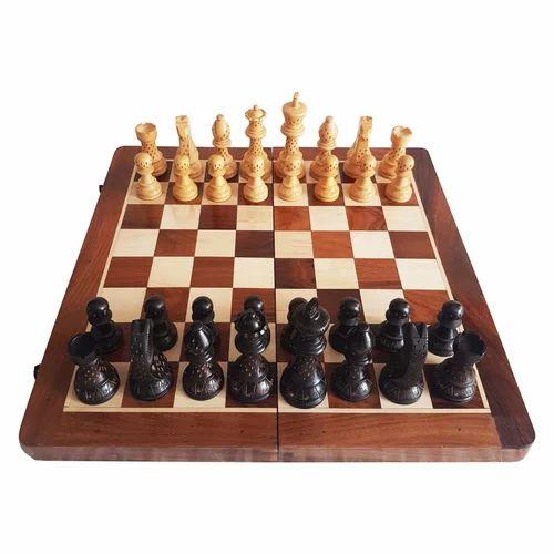 Marble Stone Chess Board et pièces Set Rajasthan Art dimension 20 x 20 cm