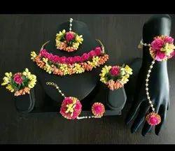 Women Modern Mehendi Artificial Flower Jewellery