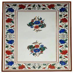 Table Top Semi Precious Stone Inlay Handicraft Work