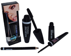 Black Mac 3in1 Eye Liner, Mascara Set, For Personal