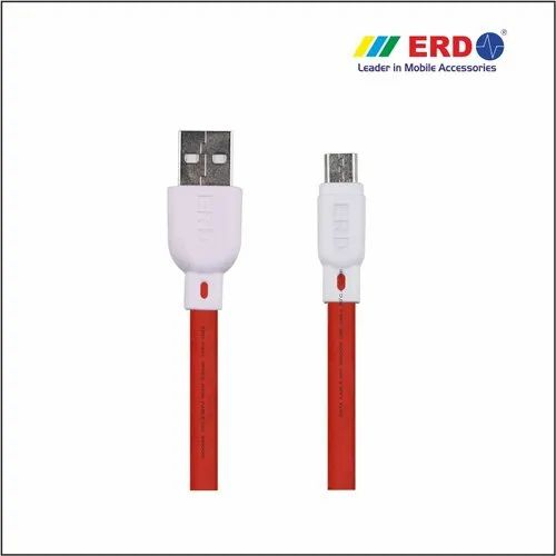 Electric RED UC20R Flat Micro USB Data Cable, Warranty: 3months