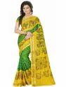 Jacquard Silk  Bandhani With Print Saree