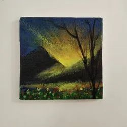 Acrylic Painting, Size: 4 X4 Inches