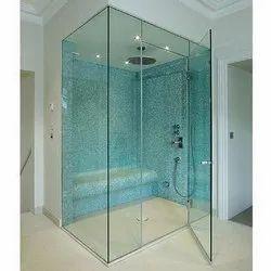 Hinged Bathroom Toughened Glass Door