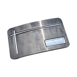 Silver Rectangular SS Belt Buckle, Packaging Type: Box