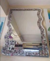Stones Designer Mirror Glass