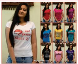 sri Half Sleeve Ladies t shirts, 190