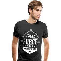 Black Rio Life Style Mens Half Sleeve Graphic T Shirt, Size: XL