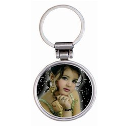 Ansh Enterprises Silver Metal Round Shape Key Chain, Packaging Type: Polybag