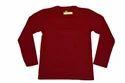 Namakool Plain Men's Full Sleeve Maroon T Shirt