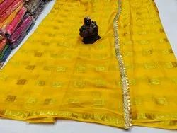 Lemon Party Wear Saree