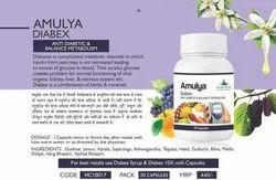 Herbal 30 Cap Amulya Diabetes Capsule, For Personal, Natural