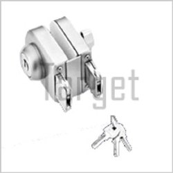 Wall to Glass Lock with One Side Key and One Side Knob (Rectangular Shape)