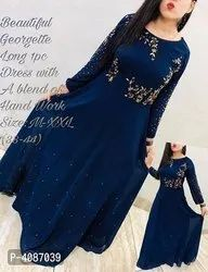 ELEGANT GEORGETTE EMBROIDERED GOWN FOR WOMEN