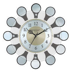 Wooden Glass Wall Clock