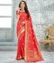 Mystic Pink Upada Silk Exclusive Saree