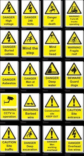 Black Or Multi Color Aluminium Warning Safety Signs Shape Rectangular And Triangle Id 20238870055