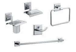 Brass Bath Set Of Five Items ( Squaro )
