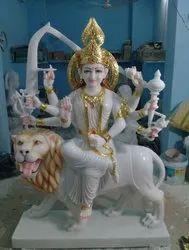 White Marbal  Durga Statue
