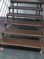 Cherry Iron Wooden Steps Staircase