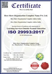 ISO 29993:2017 Certification & Consultancy Service