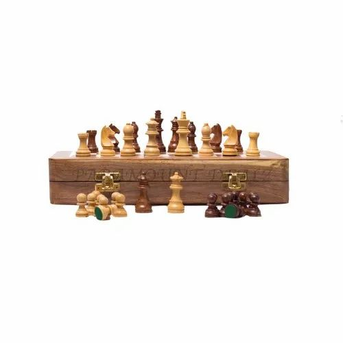 12 Inches Wooden Magnetic Chess Set