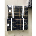 Rayon Gold Check Print Fabric