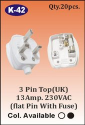 K-42  3 Pin Top Plug With Fuse