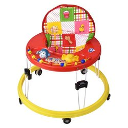 NATRAJ Red And Yellow Portable Baby Walker, Age Group: Upto 1 Year, 5