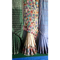 Silk Ladies Kantha Stitch Saree