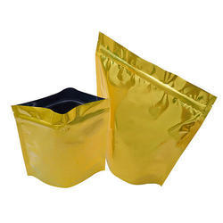 Shiny Gold Stand Up Pouches