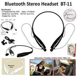 Black Enhance Bluetooth Stereo Headset