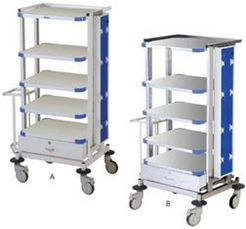 Monitor Trolley: Stainless Steel