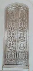 Wood silver carved luxury doors