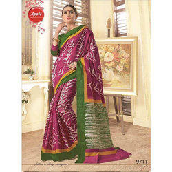 Party Wear Printed Bhagalpuri Cotton Saree